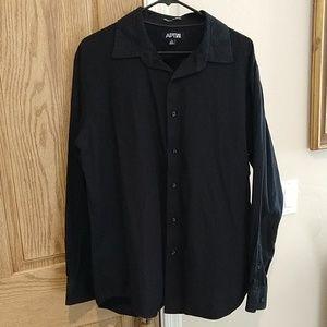 Apt. 9, XL black long sleeve button down shirt